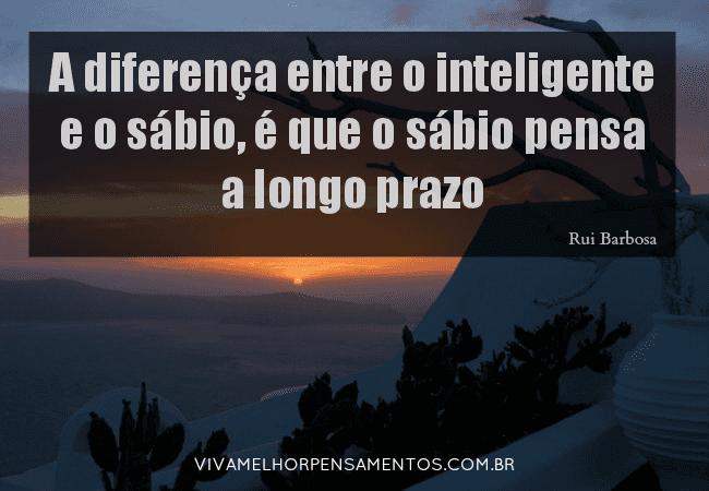 O inteligente e o sábio