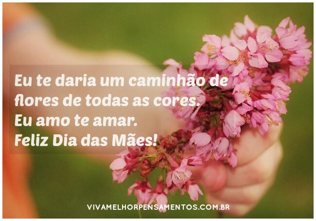 Te amo mãe! Feliz Dia das Mães!
